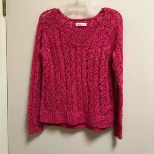 Abercrombie and Finch pink sweater medium